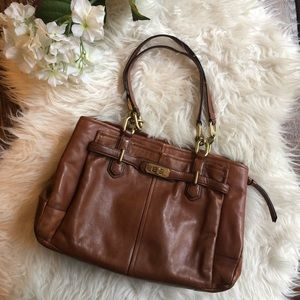 🌷 Coach brown leather bag